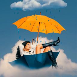 freetoedit clouds creative srcyellowumbrella yellowumbrella