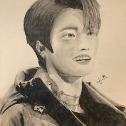 seonghwa parkseonghwa ateez seonghwaedit ateezseonghwa ateezedit edit kpop kpopedit kpopedits drawing blackandwhite icantdraw help