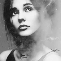 blackandwhite editreplay replayedit doubleexposure faceart woman photomanipulation blends freetoedit