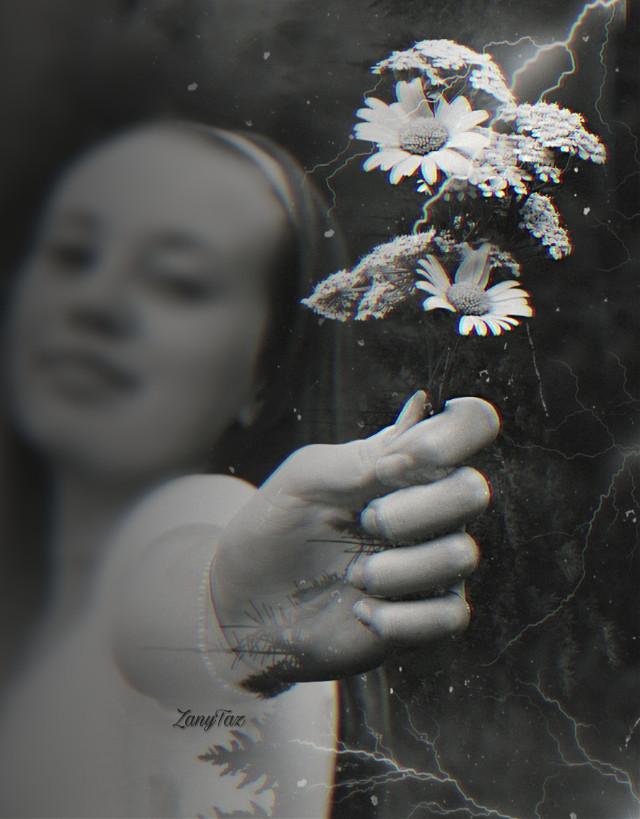 Playing with #replayedit #blackandwhite #doubleexposure #blureffect #flowers #myedit #blends