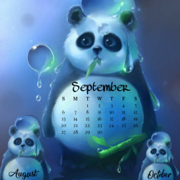 freetoedit panda cute 2020 september srcseptembercalendar