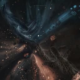 space cosmic galaxy fantasy surreal surrealism hands freetoedit