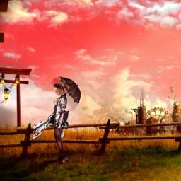 freetoedit digitalart surreal twilight city