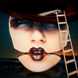 freetoedit surreal strange zipperface blackhole nightsky imbored reachforthesky 3d 3deffect shadoweffect unsplash