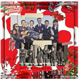 hargreevesfamily hargreeveskids hargreeves tua theumbrellaacademy umbrellaacademy collage red 。゚•┈୨┊͙˖ᝰ☂️𖤐┊͙୧┈•゚。 𝐅𝐀𝐍𝐒: ⛲ red