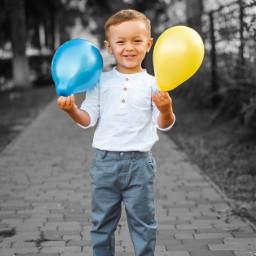 freetoedit cute child balloon colorsplash colorsplasheffect blackandwhite orient_arts madewithpicsart heypicsart makeawesome