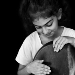 bw bnw blackandwhite bwphotography bnwphotography blackandwhitephotography kid childgirl doumbek darbuka rhythm