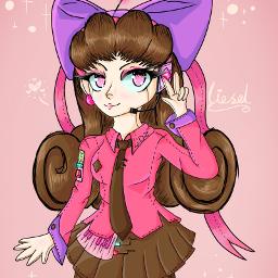 pastel pastelcolors pink pastelpink bow girly magic art digitalart originalcharacter