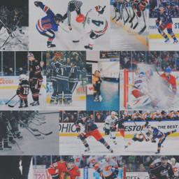 hockey icehockey nhl edit picsart bluejackets collage background pinterest netherlands freetoedit