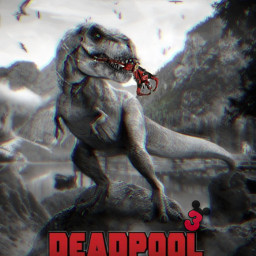 freetoedit remix editedwithpicsart mrlb2000 marvel hero dinosaur hollywood