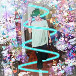 wdw whydontwe whydontweedit daniel danielseavey seavey glitter neonspiral blue colorful danieljamesseavey freetoedit