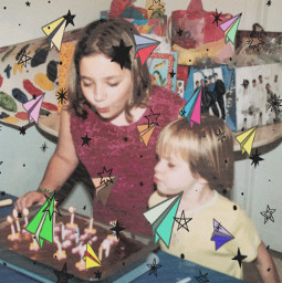 birthday cake gifts party candles airplanes paperplanes stars fun oldpic pasteleffect noiseeffect srccolorfulpaperplanes colorfulpaperplanes freetoedit