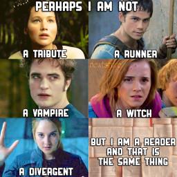 thehungergames katnisseverdeen themazerunner twilight edwardcullen harrypotter hermionegranger divergent trisprior