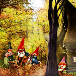 gnomes fantasy fantasyart imagination freetoedit srcseptembercalendar septembercalendar