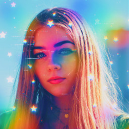 stars star rainbow rainbowaesthetic aesthetic aesthetics replay heypicsart papicks