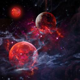 space galaxy galaxyart planets graphicarts freetoedit