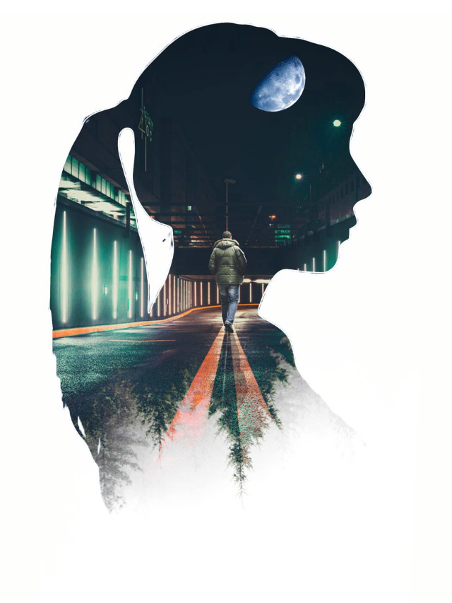 😍 #freetoedit #heypicsart #picsart #myedit #doubleexposure #girl #silhouette #araceliss #makeawesome #forest #urban #night