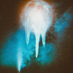 melting moon meltingeffect silhouette universe stars nightsky freetoedit unsplash
