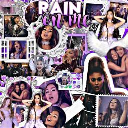 arianagrande ladygaga rainonme musicvideo purpleaesthetic freetoedit