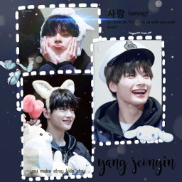 jeongin skz straykids yangjeongin i.n cute baby korea korean kpop edit blue aesthetic bunny butterfly plushies teddys sailorhat freetoedit i