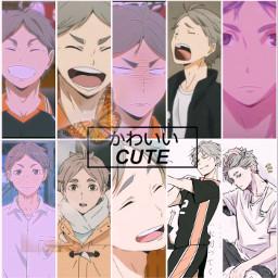 haikyuu sugawara purpleaesthetic cute anime hot piscart like 4upage edit freetoedit