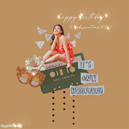 happybirthday happybday glitter brownaesthetic brown beigeaesthetic beige points flower girl newspaper itsonlybeginning birthday mask girlinareddress reddressgirl reddress red casetteplayer flowerpowergirl