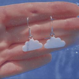 earrings clouds aesthetic
