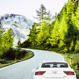 myedit travel road outdoors car freetoedit