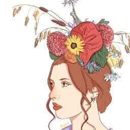 freetoedit paintedversion paintedoutline outlineart myillustration portrait retrato porträt ilustraciòn autumnvibes autumnishere autumncolors