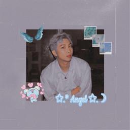 namjoon kimnamjoon rm bts aesthetic blue tumblr kpop bangtansonyeondan koya freetoedit
