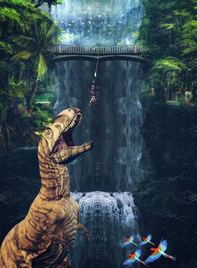 #freetoedit #myedit #madewithpicsart #editedbyme #editedwithpicsart #picsart #surreal #nature #landscape #replay #waterfall