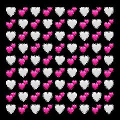 pink heart emojibackround white lol freetoedit
