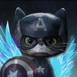 @asweetsmile1 wings cartoon superhero mini captainamerica cat cute freetoedit srcneonwings neonwings