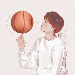 yoongi suga basketball sports bts drawing digital art sketch