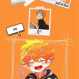 hinatashoyo shoyohinata shoyo hinata haikyuu hinatahaikyuu orange karasuno volleyball asthetic wallpaper astheticbutnotreally yellow lockscreen hi cute cuteboi meatisgood pictureframe love freetoedit