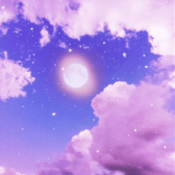 moon clouds purple violet glitter freetoedit