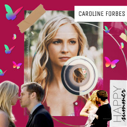 freetoedit carolineforbes vampire love klaus klausmikaelson caroline candice candiceking rccdcover cdcover
