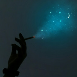 papicks picsart smoke glitter star stars cute hand hands aesthetic aesthetics blue aestheticblue moon freetoedit