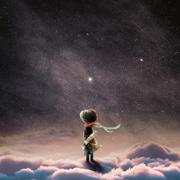 freetoedit fantasy boy clouds space