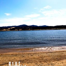 lake sunny_day nature
