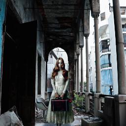 abandonedbuilding urbex girl photography remixed freetoedit