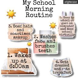 nichememe niche meme morningroutine school backtoschool like bekind love aesthetic emoji sun sophie6612 bed hair skincare outfit freetoedit
