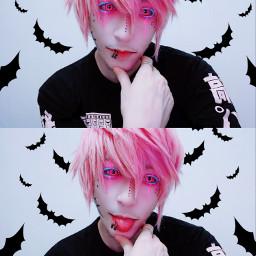 cazfhey bat batboy bats pastelgoth vampire kawaii kawaiiboy anime animeboy animehair pinkhair streetgoth creepycute pastelemo cute cuteboy goth gothboy aesthetic spooky spookyboy visualkei streetfashion streetstyle freetoedit