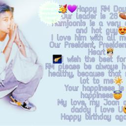 freetoedit bts bangtanboys bangtan army boys kimnamjoon kim namjoon rm rapmonster rapmon btsrm rmbts happy birthday happybirthday happybirthdayrm heypicsart makeawesome