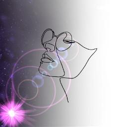 freetoedit onelinedrawing girl universe universelove