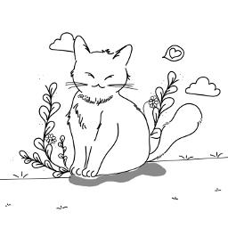 freetoedit meow catlover fotoedit animaldoodle