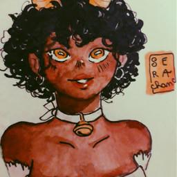 drawing penart pendrawing girl freetoedit cute zodiacs zodiacsign taurusgirl taurus tauruszodiac gold sera_chan  ~~ @aspeisse sera_chan