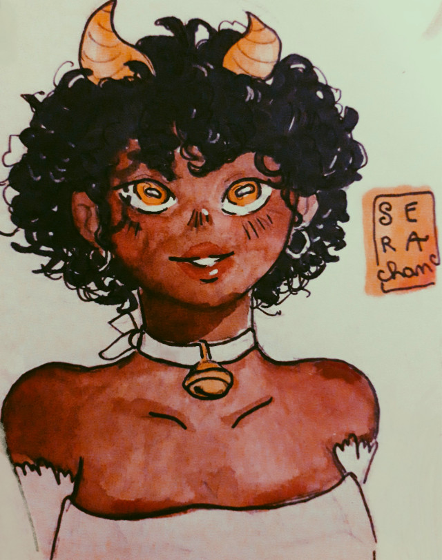 Hi, Taurus check!  I just love her eyes :3  ~~ #drawing #penart #pendrawing #girl #freetoedit #cute #zodiacs #zodiacsign #taurusgirl #taurus#tauruszodiac #gold #sera_chan  ~~ @aspeisse