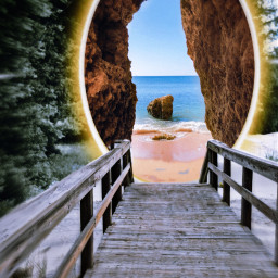 surreal otherworld portal beach walk nature blur interesting wanderlust explore freetoedit