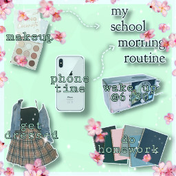 morningroutine niche aesthetic schooltime